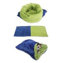 Spací pytel 3v1 modrá/zelená XL kočka k.22