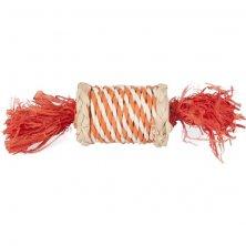 Hračka hlod. přírodní sisal/šustí váleček 17cm Flamingo